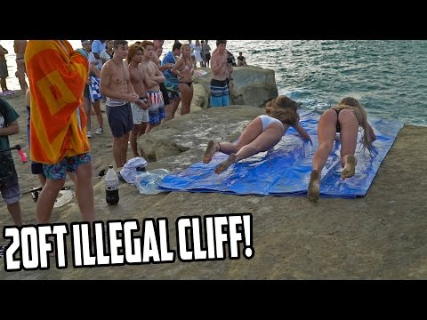 SLIP N SLIDE OFF A CLIFF!