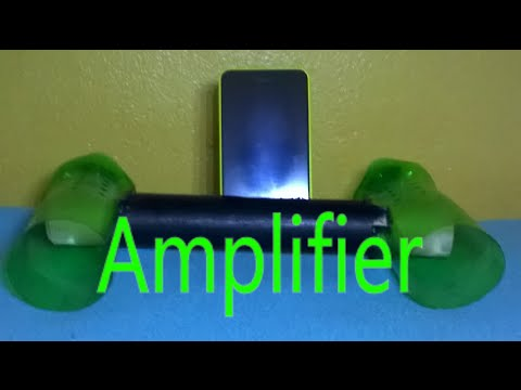 How to make a iPod/iPhone speaker amplifier Stand