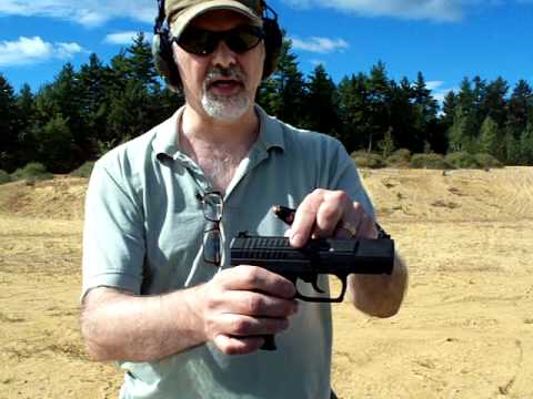 Walther P99 9mm AS model pistol rapid fire
