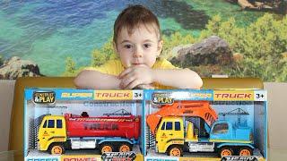 Super truck  despachetăm două camione și ne jucăm la Bogdan`s Show