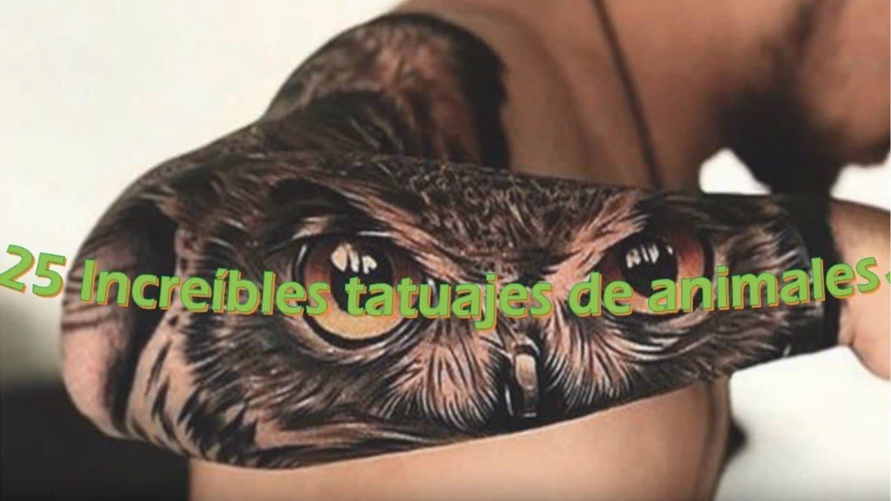 25 Increíbles Tatuajes De Animales Youtube