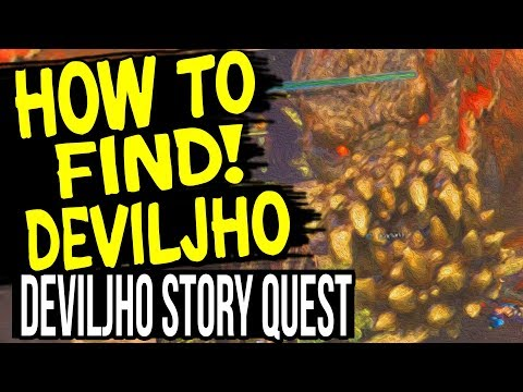 How to Find DEVILJHO / Deviljho Story Quest: The Food Chain Dominator Monster - Hunter World