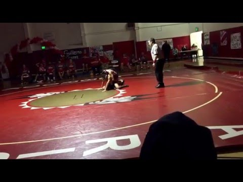 Orange Glen High School Wrestling: Miguel Anaya vs Fallbrook