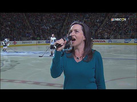 VGK@SJS, Gm3: Martin sings the national anthem