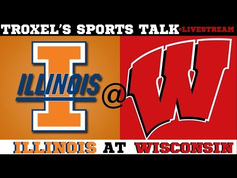 NCAA Illinois Fighting Illini VS Wisconsin Badgers Game Audio/ Scoreboard Only