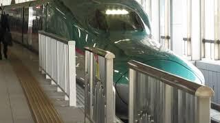 東北新幹線E5系はやぶさ17号新青森行仙台駅発車※発車メロディー「青葉城恋唄」あり