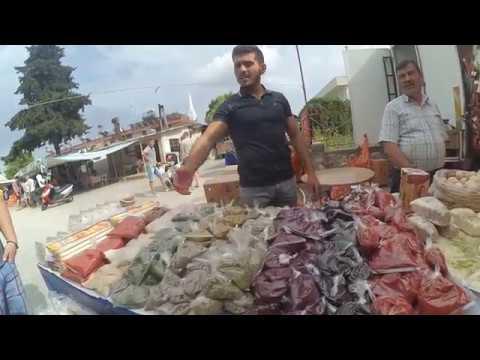 Цены на продукты и прочее на рынке в Кемере, Турция, май 2017