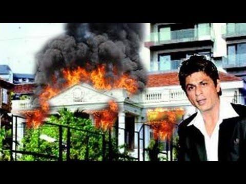 BIG FIRE in Shahrukh Khan's House Mannat - YouTube