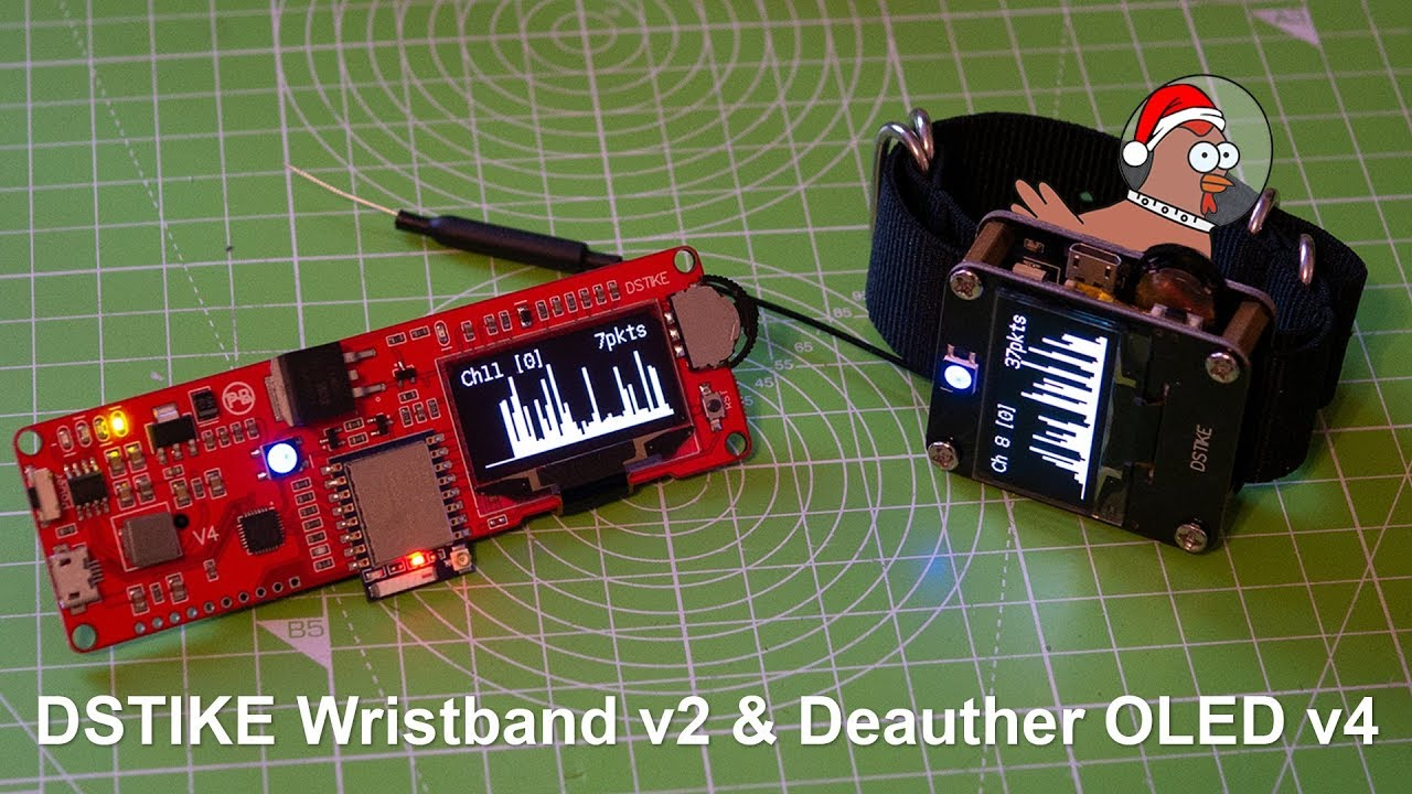DSTIKE Wristband v2 & Deauther OLED v4 - Showcase by spacehuhn