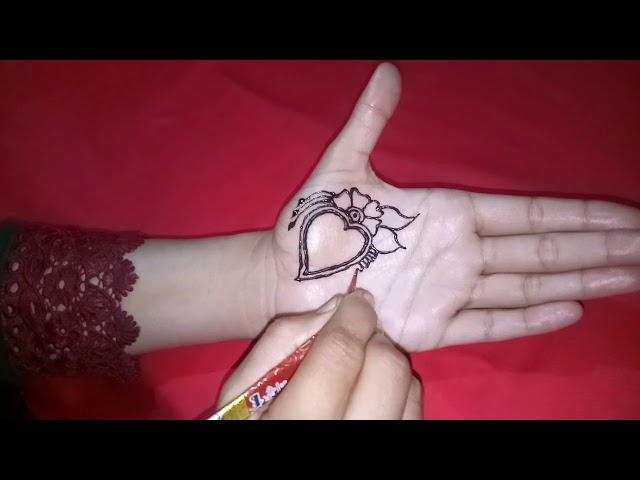 Unique Mehndi Designs   S Heart Letter   Beautiful Mehndi Design For Lover  