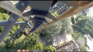 Katun Roller Coaster Front Seat POV - Mirabilandia Italy B&M Inverted On-Ride