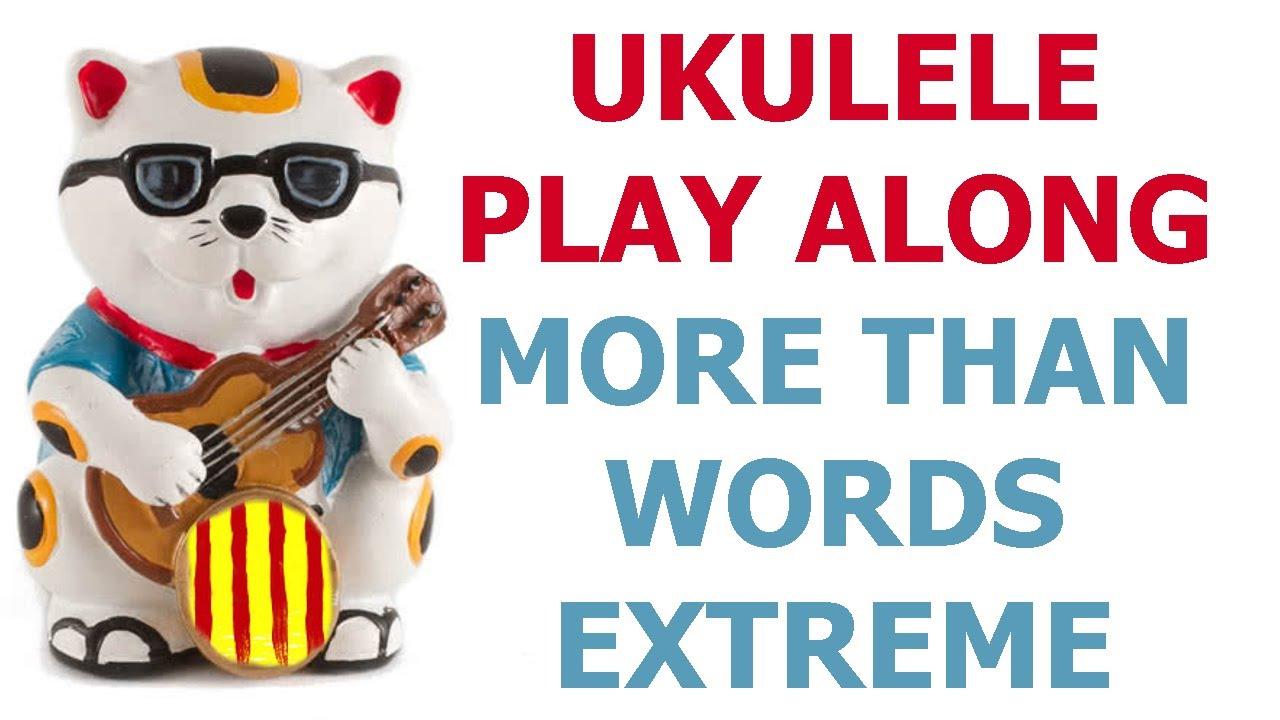 more than words ukulele pdf