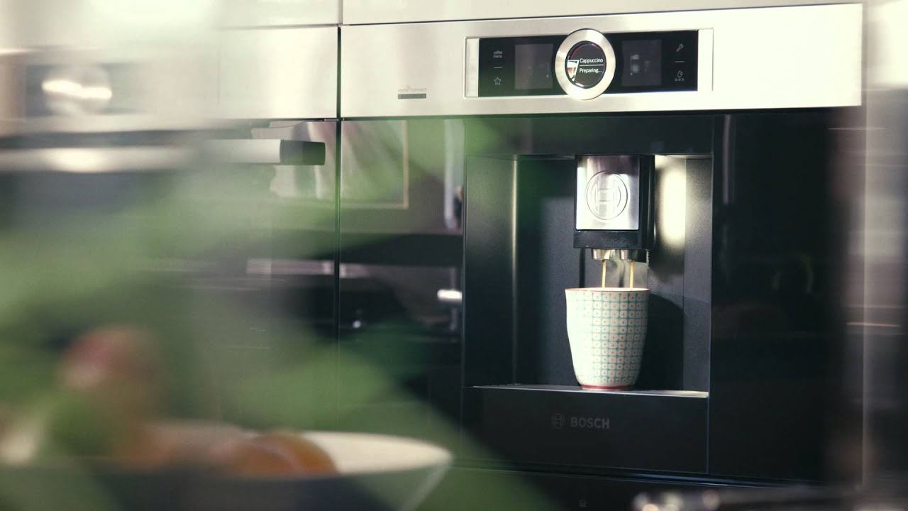 connect with your coffee machine bosch home connect youtube. Black Bedroom Furniture Sets. Home Design Ideas