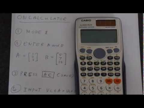 Vector Cross Product Using Casio Fx-991ES Plus