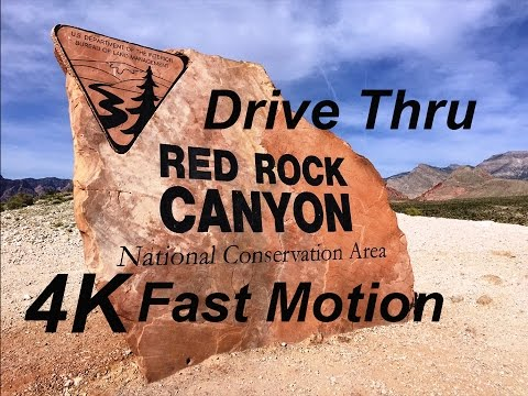 Red Rock Canyon Las Vegas Drive Thru in 3 minutes 4K