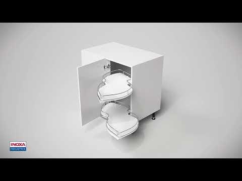 Ripiani estraibili e orientabili per angolo base Inoxa 845 Combis - montaggio - shopmancini.com