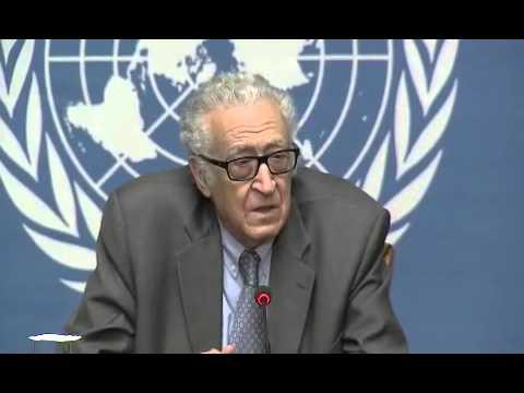 Syrie \ Conférence de presse à Genève de M - Lakhdar Brahimi   29 \01 \ 2014