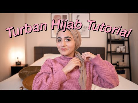 Turban Hijab Tutorial (super easy)   for everyday life   - YouTube