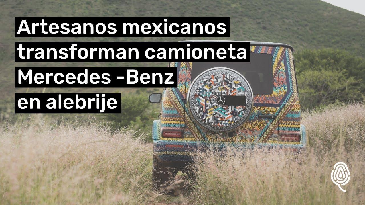 Artesanos oaxaqueños transforman un Mercedes-Benz en alebrije