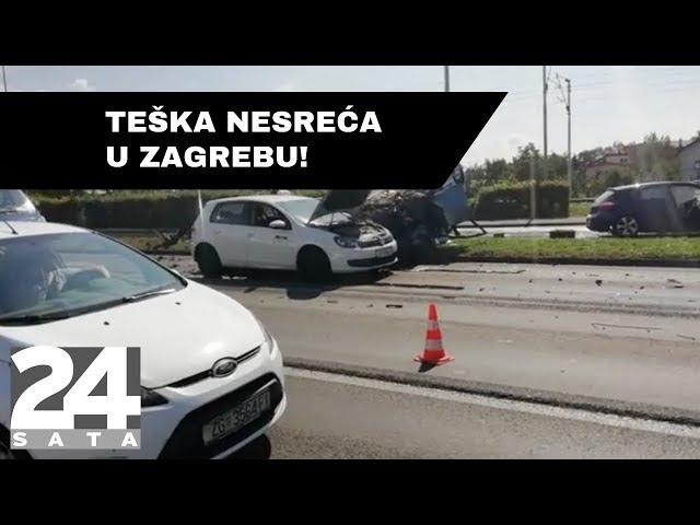 Sudar tri automobila u Zagrebu: jedna osoba u bolnici