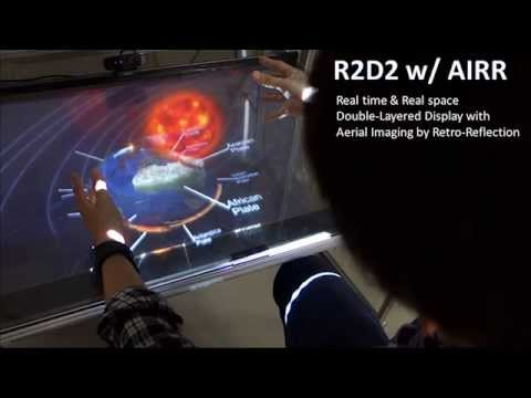 [Siggraph Asia 2015] R2D2 w/ AIRR: Interactive 2.5D Floating Display