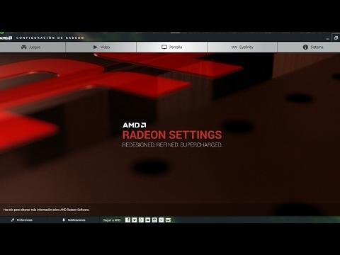 Configuración Radeon AMD 2017