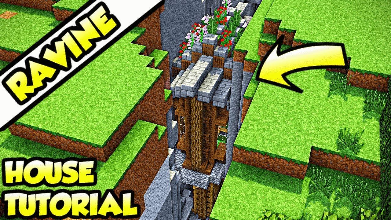 Minecraft Ravine Survival House Tutorial (How to Build)