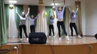 танец девочек.выпуск 2016.23 февраля.сш№14 г. Брест