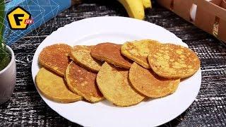 ДИЕТИЧЕСКИЕ Банановые панкейки — рецепт без муки — пошагово