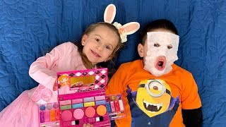 Kids play Beauty Salon and play with make up toys video for kids by Joy Lika
