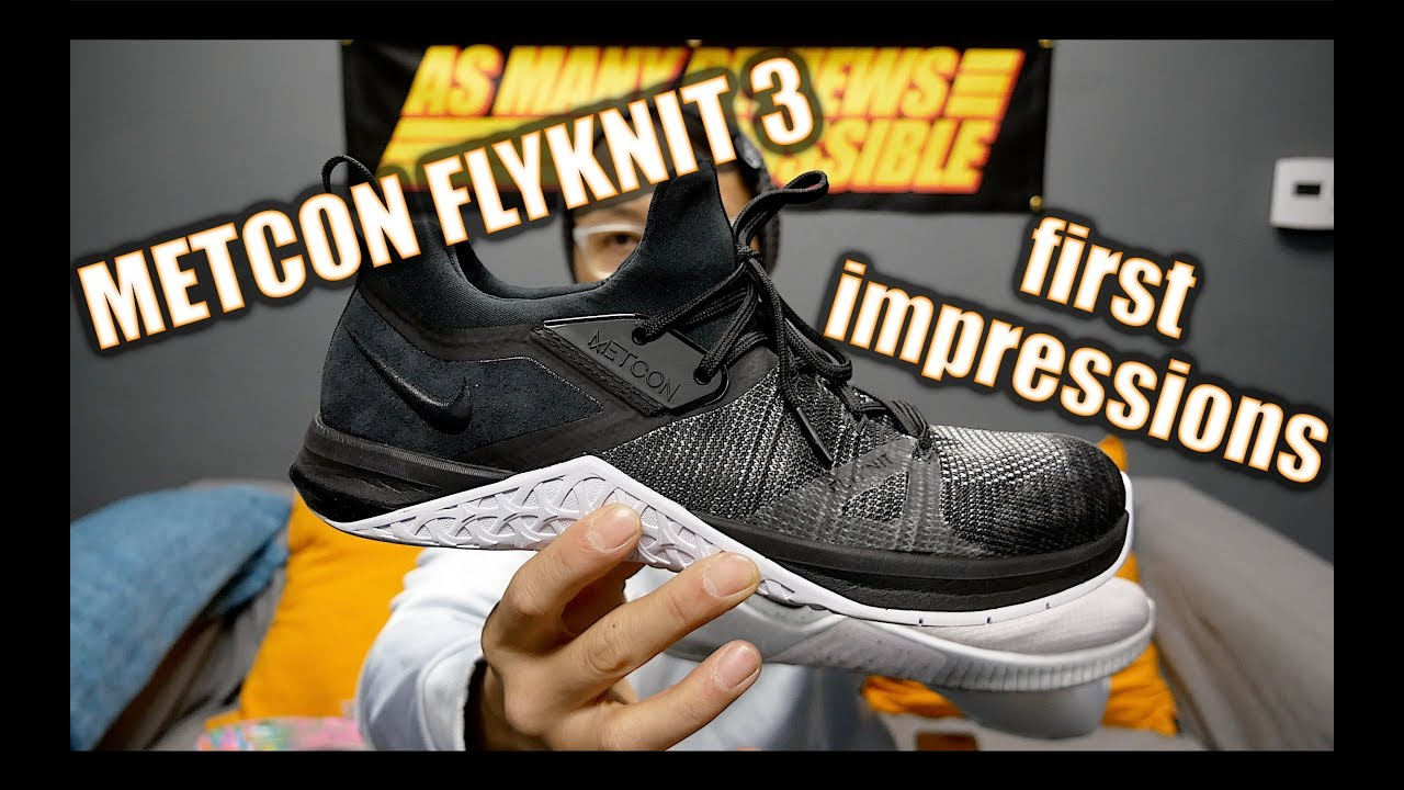 digestión Huracán rodar  Nike Metcon Flyknit 3 First Impression Review! - YouTube