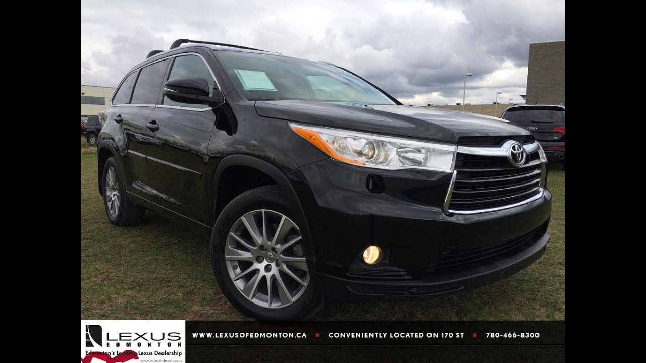 Pre Owned Black 2014 Toyota Highlander Awd Xle In Depth