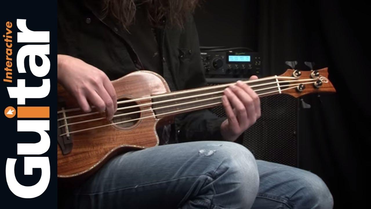ortega caiman fl gb uke bass review youtube