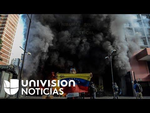 Incendian una sede del Tribunal Supremo de Justicia en Venezuela