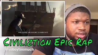 CIVILIZATION EPIC RAP | Dan Bull- Reaction