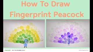 How To Draw Fingerprint Peacocks with Ink Pad