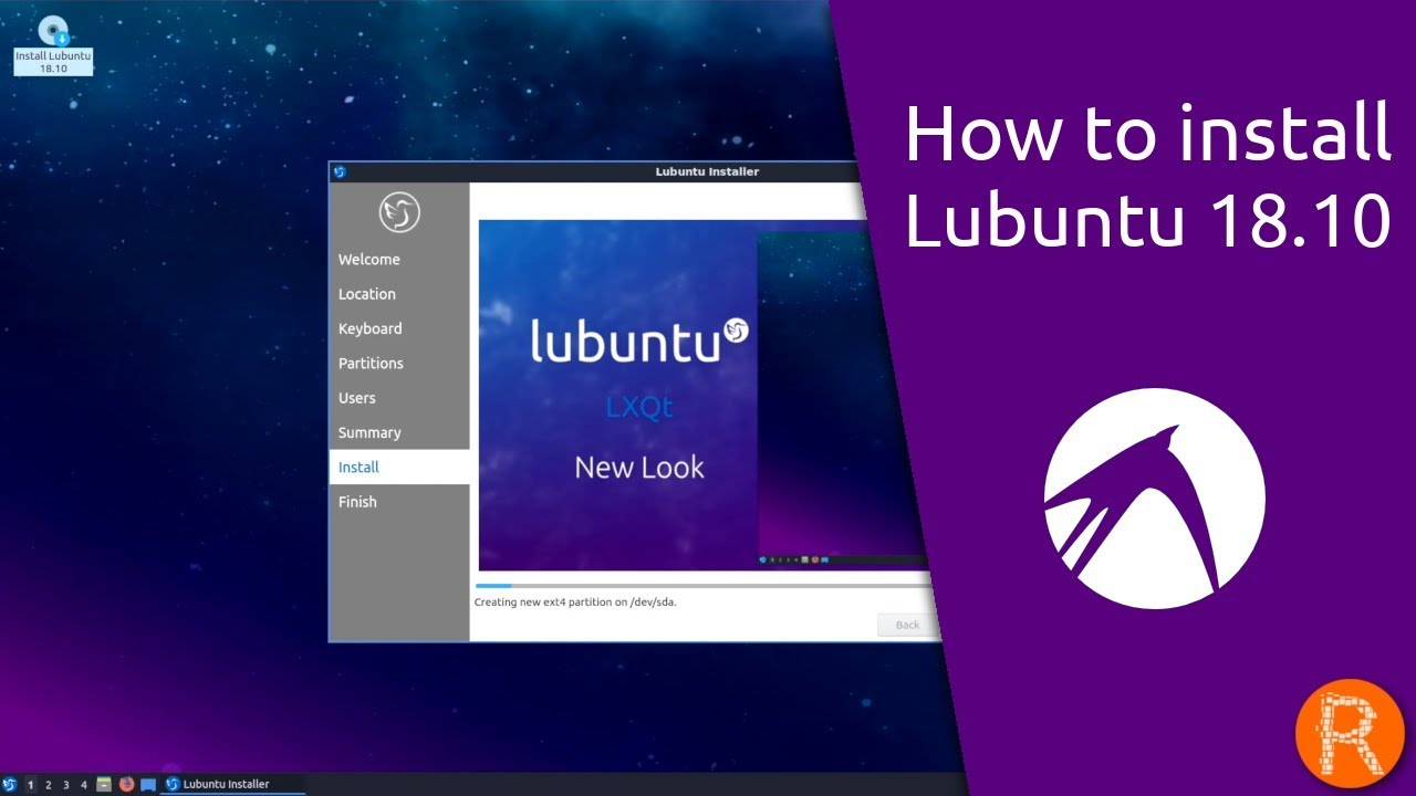 How to install Lubuntu 18 10
