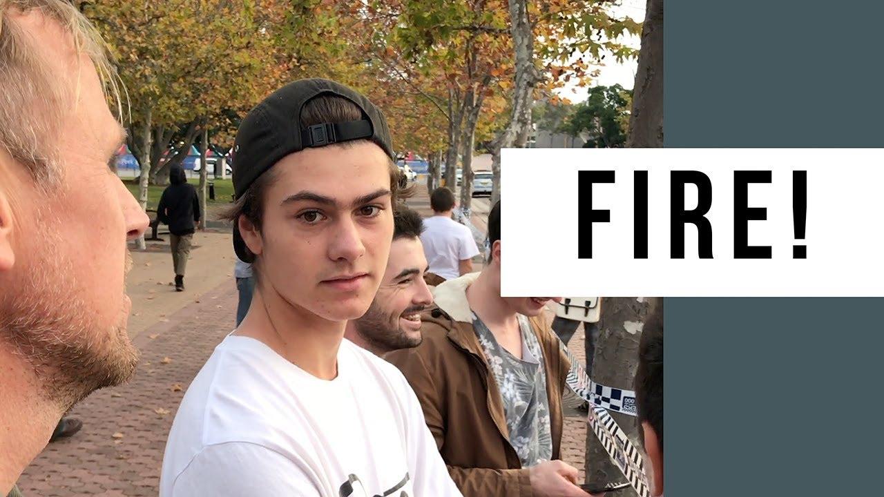 Fire At Monster Skatepark