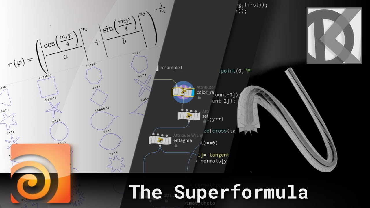 Working With the Superformula in Houdini VEX - Lesterbanks