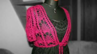 crochet lace bolero
