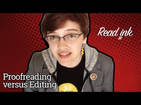 Read Ink: Episode 1: Proofreading versus Editing