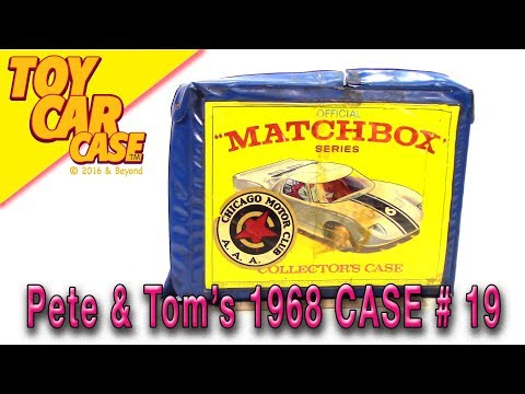 Pete and Tom's 1968 Matchbox Collector's Case Toy Car case