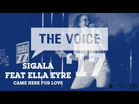 Sigala feat. Ella Eyre - Came Here For Love (live) | The Voice '17
