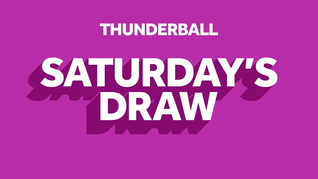 The National Lottery 'Thunderball' draw results from Saturday 1st August 2020