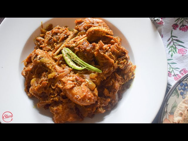 Chicken With Bamboo Shoot (Dry) | Khorisa dia Murgir Mangso | Chicken Recipes