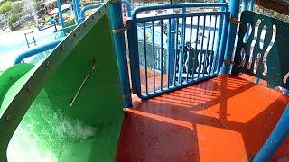 Green Ship Wreck Water Slide at Appu Ghar
