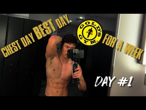 GOLDS for a Week | Day #1 | Chest Day | Winter Break Vlog