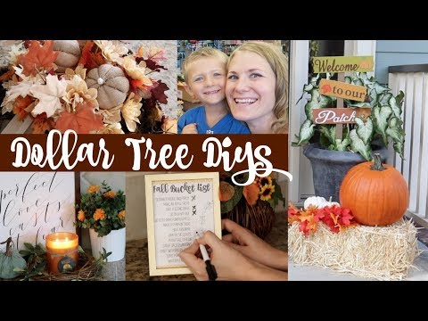 COZY FALL IDEAS & DIYS! 🍂 Dollar Tree Budget Decor Ideas