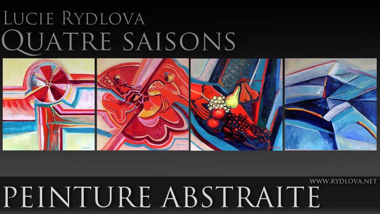 Peinture abstraite quatre saisons peinture for Peinture contemporaine
