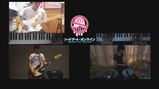 Band cover with Piano, Guitar, Drum & Bass. Luna Haruna - Overfly f...